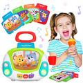 LUKAT Musical Toy for Toddlers, Kids Music Karaoke Machine with Microphone, Early Educational Toys Jukebox with Singing Recording & Voice Changing Function Gift for 2 3 4 Years Old Girls Boys
