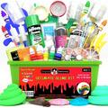 Ottoy Ultimate Slime Kit DIY Slime Making Kit with Slime Add Ins Stuff for Unicorn, Glitter, Cloud, Butter, Floam, More - Deluxe Slime Kits Gift for Girls and Boys (Green, 53pcs)