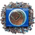 Blue Sky Puzzles 1000 Piece Round Jigsaw Puzzle of Venice, Italy - Challenging & Educational Art for Adults & Kids - Unique Panoramic Photo of City of Venice - 26.6 Inch Circular Puzzle