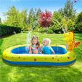 Ducklingup Dinosaur Inflatable Pool Water Park PVC Portable Outdoor Toy Excluding Air Pump