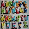 Mchoice 26Pcs Wooden Magnets Fridge Letters Wood Large Magnetic Refrigerator ABC Alphabet Cute Spelling Learning Game Toys Gift for Kids Preschool Education