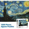 Veryke 1000 Piece Large Jigsaw Puzzle, Starry Sky by Vincent Van Gogh, Floor Puzzle Toys for Teen Adult, Educational Decompressing Funny Family Intellectual Game, 27.5 x 19.6 inch