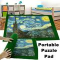Portable Puzzle Mat Roll up Jigsaw Puzzle Pad Puzzle Storage Mat Puzzles Saver,Fits up to 1000 pieces