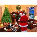 Santa Solves the Puzzle 1000 Piece Jigsaw Puzzle by, 1000 Piece Jigsaw Puzzle By SunsOut Ship from US