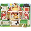 Melissa & Doug Magnetic Farm Hide & Seek Board, Magnetic puzzle board with hinged doors for open-and-close fun By Visit the Melissa Doug Store