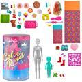 Barbie Color Reveal Slumber Party Fun Set, 50+ Surprises Including 2 Dolls, 3 Pets & 36 Accessories
