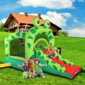 Inflatable Bounce House,Indoors Outdoor Inflatable Bouncers,Slide Bouncer,Jumper Bounce House,Bouncer Stakes,Ball Bit House,Pefect for Babies,Toddlers,Kids,Children With 350W UL Certified Air Blower