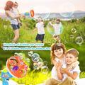 WisToyz Bubble Machine Bubble Blower Giant & Small Bubble Maker with 2 Bubble Wands, Bubble Machine for Kids Dip &Press Bubble Gun 800+ Bubbles Per Minute 2 x 8 oz Bubble Solution Included