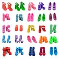 """10/15/20 Pairs 11.5"""" Fashion Doll Shoes Different Assorted Colors High Heel Shoes Doll Boots Flat Shoes Set Accessories for Barbie Doll Girls' Birthday Gifts"""