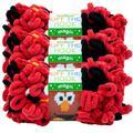 Lion Brand Yarn Sesame Street Off the Hook Magic Elmo Smile Loop Yarn Jumbo Polyester Multi-Color Yarn 3 Pack