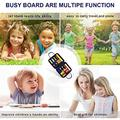 Gayrrnel Montessori Toddler Busy Board, Busy Board for Toddlers - Bag Designed Educational Learning Toys for Basic Skills Learning,Dress and Alphabet Spell Cognition