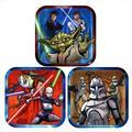 Star Wars 'The Clone Wars' Small Paper Plates w/ 3 Designs (8ct)