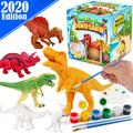 Kids Crafts and Arts Set Painting Kit - Dinosaurs Toys Art and Craft Supplies Party Favors for Boys Girls Age 4 5 6 7 Years Old Kid Creativity DIY Gift Easter Paint Your Own Dinosaur Animal Set