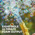[Hot Sale]2021 Bubbles Gun,XGeek Gatling Bubble Machine,The Best Gift For Kids,8-Hole Huge Amount Bubble Maker,Strong Tightness,Summer Outdoor Activities Bubbles Gun for Kids (Gold,Free 3 Batteries)