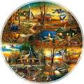 Cabins in the Woods - A 1000 Piece Jigsaw Puzzle by SunsOut