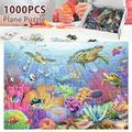 HOTBEST Jigsaw 1000 Pieces Adult Kids Puzzle Underwater World Decompression Game World Fish Wood Jigsaw Educational Game DIY Toys