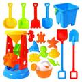 Bseka 17PC Children'S Beach Toy Set With Beach Bucket Sand Shovel Sandglass Sand Pit Toy With Beach Bucket Suitable For Children'S Outdoor Indoor Games Gifts