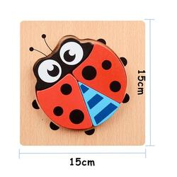 Patpat 3D Wooden Puzzle Jigsaw Toys For Children Wood 3d Cartoon Animal Puzzles Intelligence Kids Early Educational Toys
