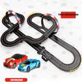 2 Player 2 Car Racing Track Car Kit Set Kids Toys Loops Electric Slot Cars Race Stunt Loop Kids Games Family Home Fun with 2PCS Controllers