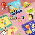 Yesbay 24Pcs Animal Farm Wooden Jigsaw Puzzles Game Early Education Kids Toy,Puzzle Toy Transportation#,Transportation#