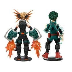 """My Hero Academia 2Pk Midoriya & Bakugo Action Figures (7"""")"""