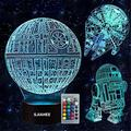3D Star Wars Lamp - Star Wars Gifts - Star Wars Light - Optical Illusion Led Light - Star Wars Lamp& Perfect Gifts for Kids and Star Wars Fans (3 Packs)