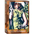 Young Girl in Green by Tamara de Lempicka 1000 Piece Puzzle, 1000-Piece Puzzle By EuroGraphics