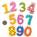MOREFUN 10Pcs Wooden Magnets Fridge Numbers Large Cute Wood Magnetic Refrigerator Learning Game Toys for Kids Baby Girls Boys Toddler Preschool Educational