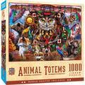 "MasterPieces Tribal Spirit Collection - Spirit Animals 19.25"" x 26.75"" Jigsaw Puzzle - 1000 Pieces"