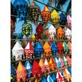 Colorful Cloth Lamps 1000 Piece Puzzle, Globetrotter by LPF Limited