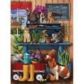SUNSOUT INC Trouble in The Potting Shed 1000 pc Jigsaw Puzzle by Artist: Tom Wood