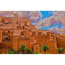 SociJad, Kasbah OUARZAZATE - Puzzles for Adults 1000 Piece, and Kids - Jigsaw Puzzles - Educational Learning - Fun Puzzle Games and Toys - Gifts for Woman Men - Jig Saw - Home Decor Puzzle Frame.