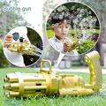 Gatling Bubble Machine, Color Cool Toys Gift Gatling Bubble Guns Automatic Bubble Machine, Electric Bubble Gun Toy, Bubble Machine Outdoor Toys For Boys And Girls