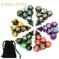 YouLoveIt Polyhedral Dice 7pcs/Set Polyhedral Dice Multi Sided Dice with Bag for Dungeons and Dragons DND RPG MTG Dice Set of 7, D20 D12 D10 D8 D6 D4 Game