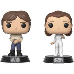 Funko Pop! Star Wars: Star Wars - Han and Leia 2-Pack, From Star Wars, Han and Leia 2-Pack, as a stylized POP vinyl from Funko! By Visit the Funko Store