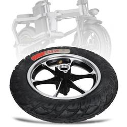 Mgaxyff Shock Absorption 12in Tire Kit Electric Scooter Tyre, Front Hub Tyre Electric Scooter Tire, E-Scooter For Electric Scooter Replacement Scooter Wheels