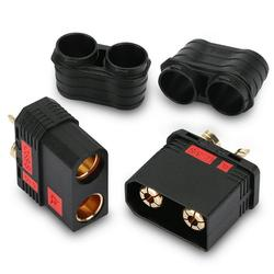 Male Female Bullet Connectors Power Plugs, TSV 2 Pairs QS8 Connectors Anti-Spark Male Female Connector Fit for Lipo Battery RC Planes Cars and Charger Lead