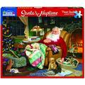 White Mountain Puzzles Santa鈥檚 Naptime 1000 Piece Puzzle, 1 EA, SANTA CLAUS: Poor St. Nick is totally exhausted from his yearly Christmas journey. In this.., By Visit the White Mountain Puzzles Store