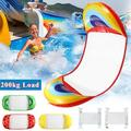 55 x 24 inches Inflatable Water Hammock Pool Float Bed, Floating Swimming Lounge Chair Bed, Durable Bearing Weight 300lbs Oversized Inflatable Rafts Air Lightweight Comfortable for Adults and Kid