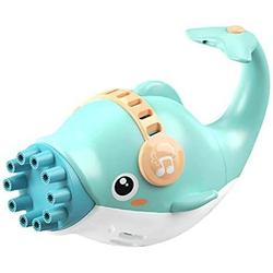 Cubism manducary Dolphin Electric Bubble Maker, Bubble Gun, Bubble Guns Automatic,Bubble car,Bubble Machine Electric Bubble Gun Toy,10-Hole Huge Amount Bubble Maker for Boys and Girls