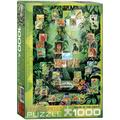 The Tropical Rain Forest Puzzle (1000-Piece), 1000-Piece Puzzle By EuroGraphics Ship from US