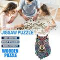 Ouneed Wooden Puzzle Irregular Puzzle Unique Shape Pieces Gift for Adults and Kids