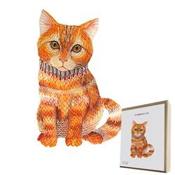 Tuscom 7.08*5.51Inches Wooden Puzzles for Adults,Wooden Animals Shaped Puzzles,Unique Shaped Jigsaw Puzzles,Magic Wooden Jigsaw Puzzles