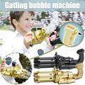 TWSOUL Bubble Gun Machine Kids,Durable Bubble Machine Maker with 8 Hole Huge Amount Bubble Toys for Summer Outdoor Activities Boys Girls