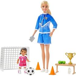 Barbie Soccer Coach Playset with Blonde Soccer Coach Doll, Student Doll and Accessories, You can be a soccer coach with the Barbie Soccer Coach playset! By Brand Barbie