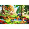 Zewfffr 1000 Pieces Animal Paradise Puzzles Funny Games Assembling Picture Jigsaw