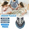Wooden Puzzle Irregular Puzzle Unique Shape Pieces Gift For Adults And Kids