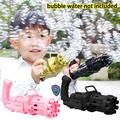 Bubble Gun, CABINA HOME Gatling Bubble Machine, Cool Toys & Gift, 8-Hole Huge Amount Bubble Maker, Strong Tightness, Power by Batteries, Children's Bubble Gun for Summer Outdoor Activities
