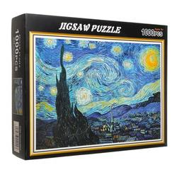 1000 Pieces Jigsaw Mini Puzzles for Adults and Teens with Landscape of London Bridge and Starry Night, Puzzle Sets for Family, Educational Games, Brain Challenge Puzzle Toys for Kids