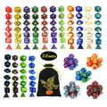 QMAY DND Dice Set, 140PCS Polyhedral Game Dice, 20 Color Double-Colors DND Dice Role Playing Dice for Dungeon and Dragons DND RPG MTG Table Games Dice D4 D8 D10 D12 D20 (20Colors)140PCS